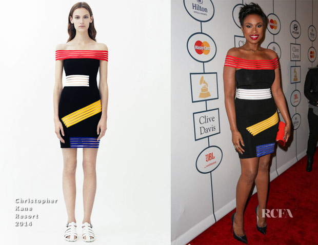 Jennifer Hudson In Christopher Kane - Clive Davis' Pre-Grammy Party