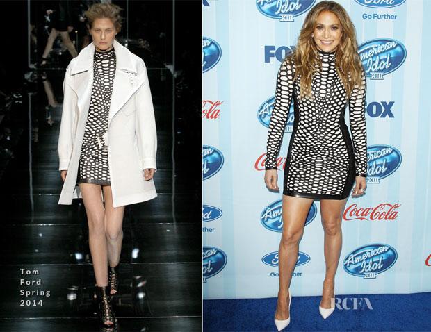 6d1c26fb9ec Jennifer Lopez In Tom Ford -  American Idol  XIII Season Premiere Event