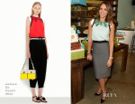 Jessica Alba In Andrew Gn & Roland Mouret - Honest Company's 2nd Birthday Celebration