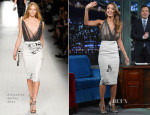 Jessica Alba In Blumarine - Late Night with Jimmy Fallon