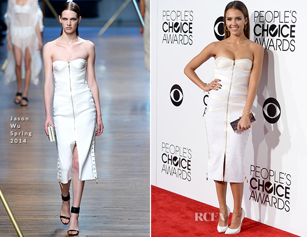 Jessica Alba In Jason Wu - 2014 People's Choice Awards