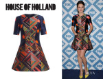 Jessica Stroup's House of Holland 'Jigsaw Disco' Dress