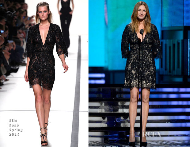 Julia Roberts In Elie Saab - 2014 Grammy Awards