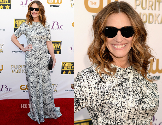 Julia Roberts In Juan Carlos Obando - 2014 Critics' Choice Movie Awards