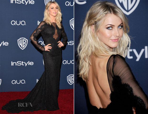 Julianne Hough In Emilio Pucci - InStyle and Warner Brothers Golden Globes Awards Party