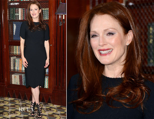 Julianne Moore In Alexander McQueen - 'Non Stop' London Photocall