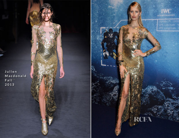 Karolina Kurkova In Julien Macdonald - IWC 'Inside The Wave' Gala Event