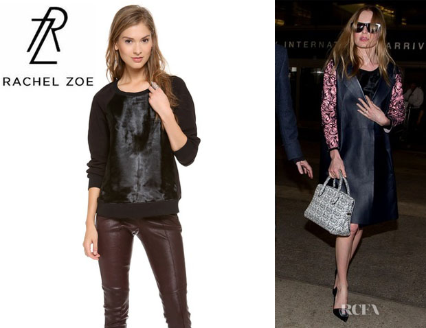 Kate Bosworth's Rachel Zoe 'January' Haircalf Sweatshirt