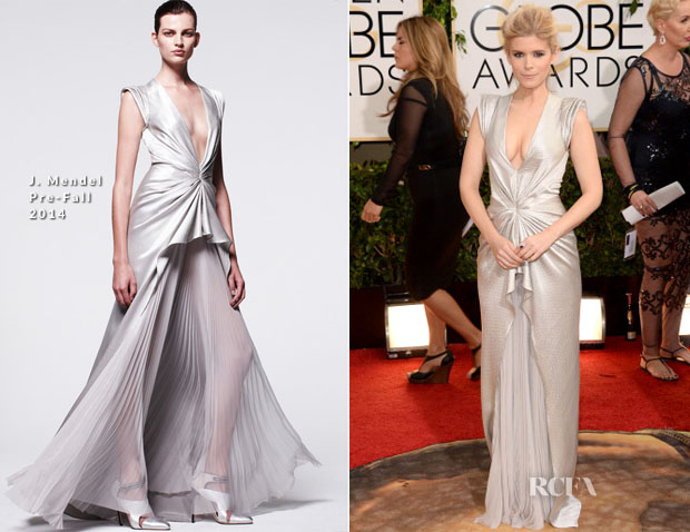 Kate Mara In J Mendel - 2014 Golden Globes Awards