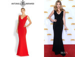Kate Upton's Antonio Berardi Sleeveless Jersey Gown