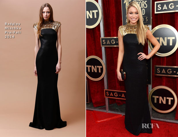 Katrina Bowden In Badgley Mischka - 2013 SAG Awards