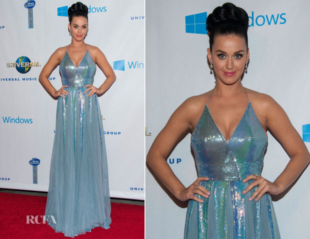 Katy Perry In Giorgio Armani - Universal Music Group 2014 post-Grammy Party
