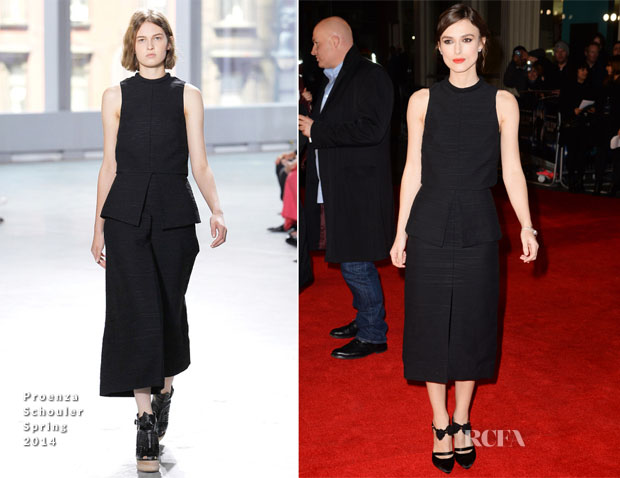 Keira Knightley In Proenza Schouler - 'Jack Ryan Shadow Recruit London Premiere