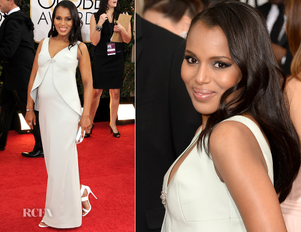 Kerry Washington In Balenciaga - 2014 Golden Globe Awards