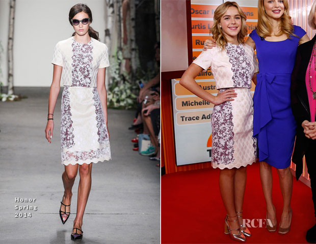 Kiernan Shipka In Honor - The Today Show