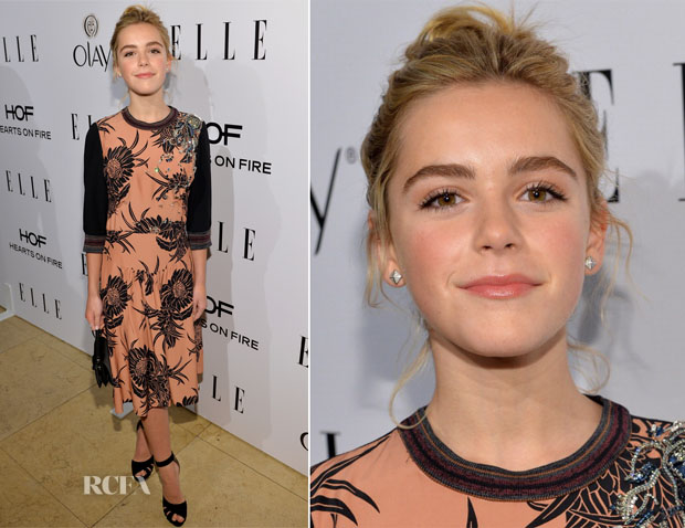 Kiernan Shipka In Miu Miu - ELLE's Annual Women In Television Celebration
