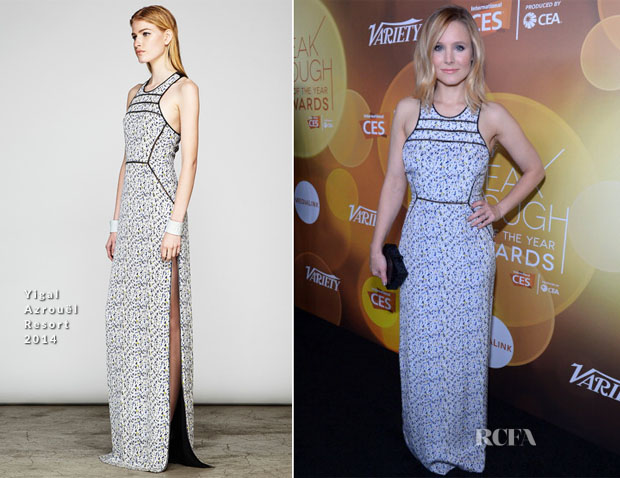 Kristen Bell In Yigal Azrouel - Variety Breakthrough of the Year Awards