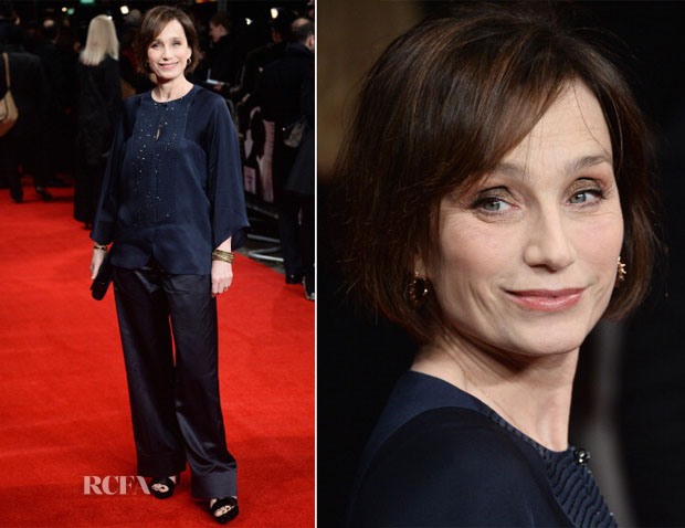 Kristin Scott Thomas In Giorgio Armani - 'The Invisible Woman' London Premiere