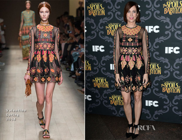 Kristin Wiig In Valentino - 'The Spoils Of Babylon' LA Premiere