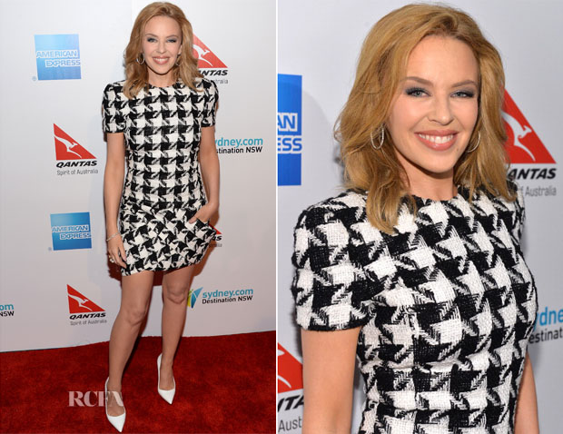 Kylie Minogue In Balmain - Qantas Spirit Of Australia Party