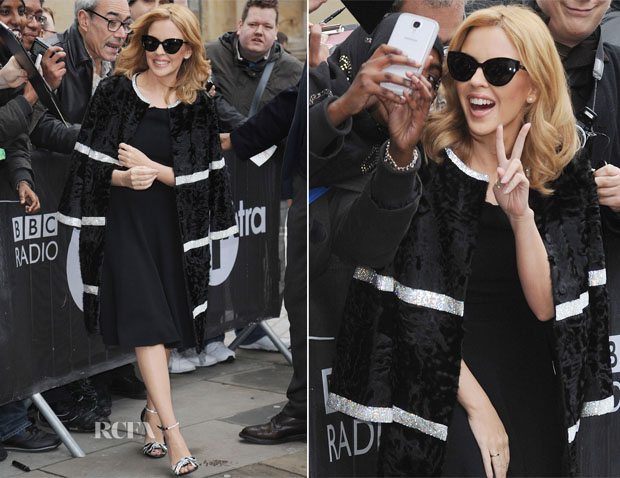 Kylie Minogue In Dolce & Gabbana - BBC Radio One Studios