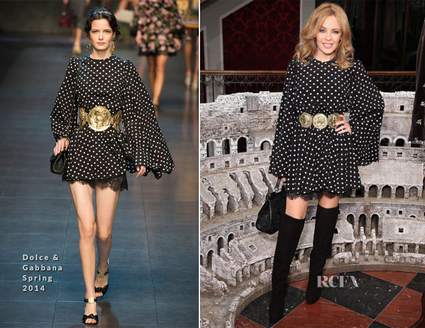 Kylie Minogue In Dolce & Gabbana - Dolce & Gabbana London Collections Men Event