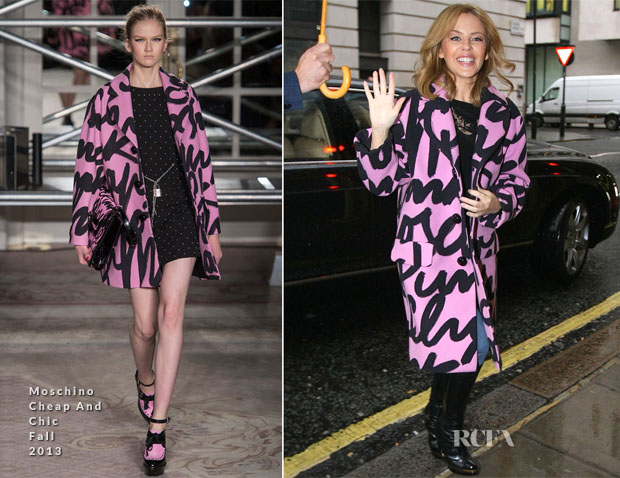 Kylie Minogue In Moschino Cheap and Chic - Out In London