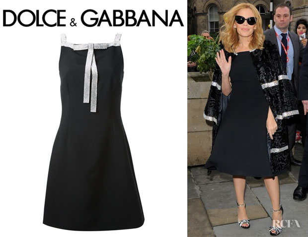 383a84429b7 Kylie Minogue s Dolce   Gabbana Crystal Studded Bow Dress
