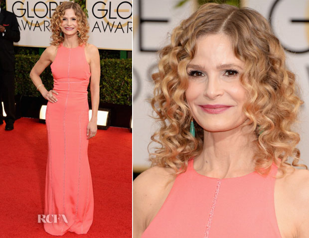 Kyra Sedgwick In J Mendel - 2014 Golden Globe Awards