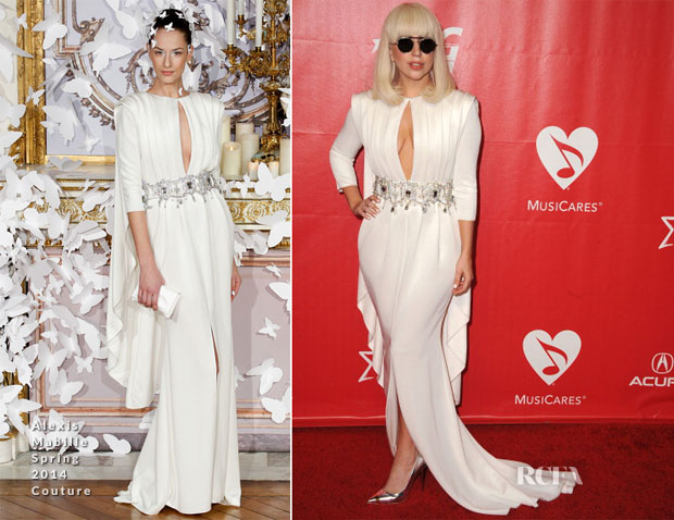 Lady Gaga In Alexis Mabille Couture - 2014 MusiCares Person Of The Year Honoring Carole King