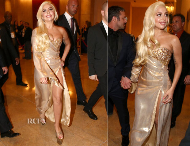Lady Gaga In Perry Meek - HBO's Post 2014 Golden Globe Awards Party