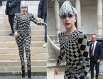 Lady Gaga In Vintage Versace - Out In Paris