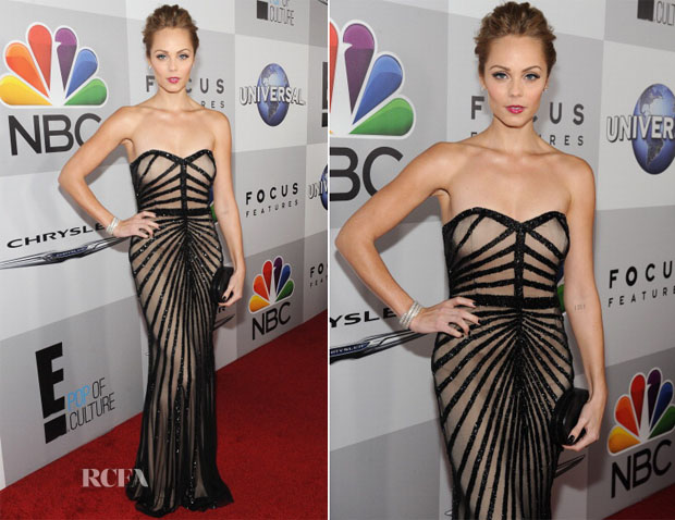 Laura Vandervoort In Rachel Gilbert - NBC Universal's Golden Globes After Party