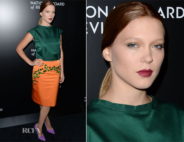 Lea Seydoux In Prada - 2014 National Board Of Review Awards Gala