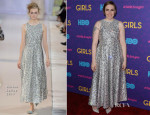 Lena Dunham In Rochas - 'Girls' Season Three Premiere