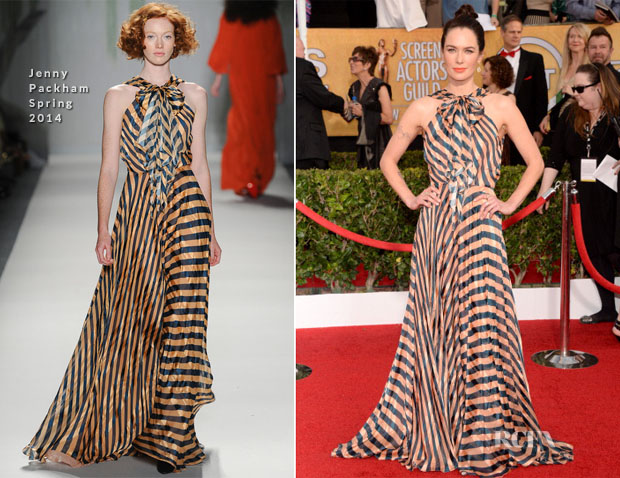 Lena Headey In Jenny Packham - 2014 SAG Awards