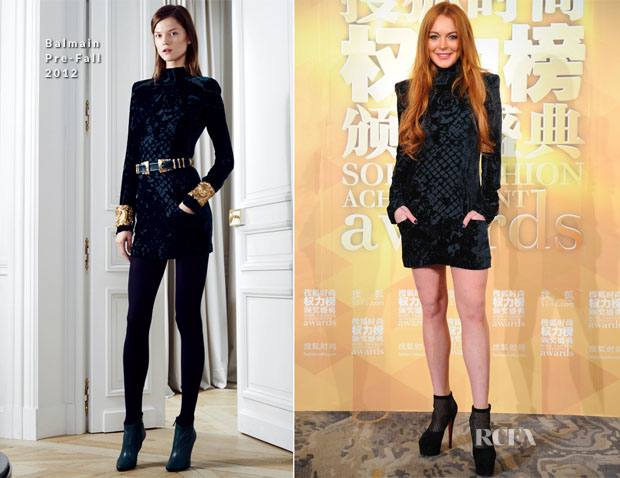 Lindsay Lohan In Balmain - 2nd Sohu Fashion Achievement Awards