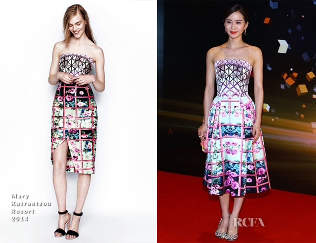 Liu Shishi In Mary Katrantzou - Sina Weibo Awards