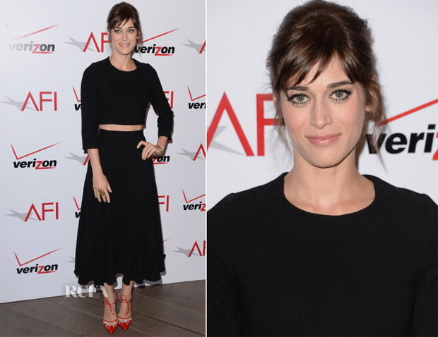 Lizzy Caplan In Houghton - AFI Award 2014