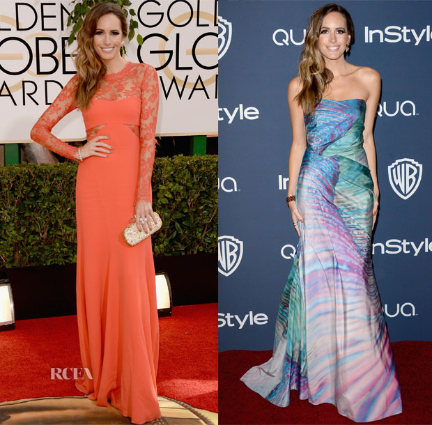 Louise Roe In Monique Lhuillier - 2014 Golden Globe Awards