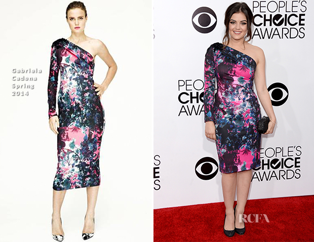 Lucy Hale In Gabriela Cadena - 2014 People's Choice Awards