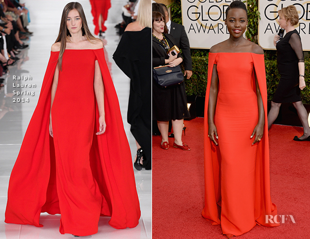 Lupita Nyong'o In Ralph Lauren - 2014 Golden Globe Awards