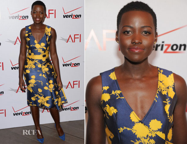 Lupita Nyong'o In Carolina Herrera - AFI Awards 2014