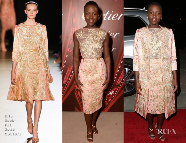 Lupita Nyong'o In Elie Saab Couture - 2014 Palm Springs International Film Festival Awards Gala
