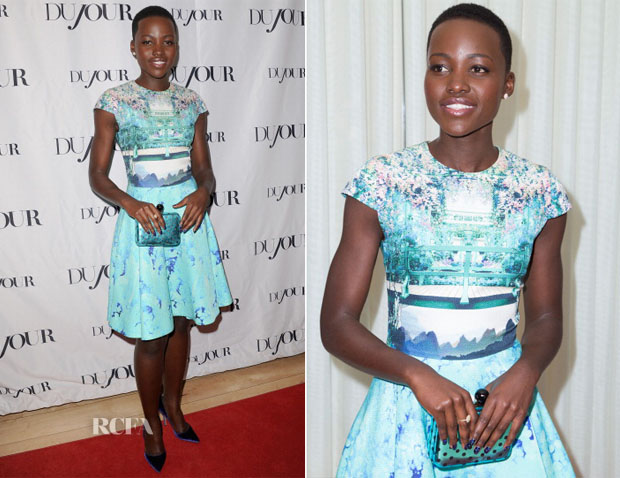 Lupita Nyong'o In Mary Katrantzou - DuJour Magazine Cover Party