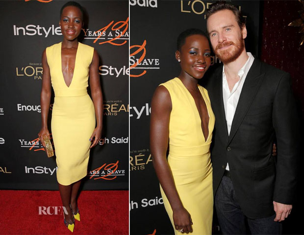 Lupita Nyong'o In Victoria Beckham - '12 Years A Slave' Cocktail Party hosted by InStyle