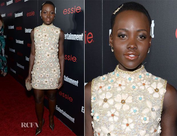 Lupita Nyong'o In Vintage Valentina - Entertainment Weekly's SAG Awards Nominees Party