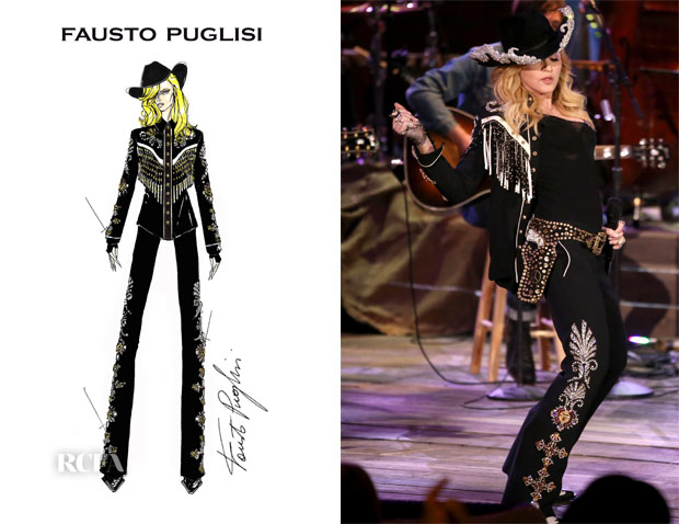 Madonna In Fausto Puglisi - Miley Cyrus MTV Unplugged