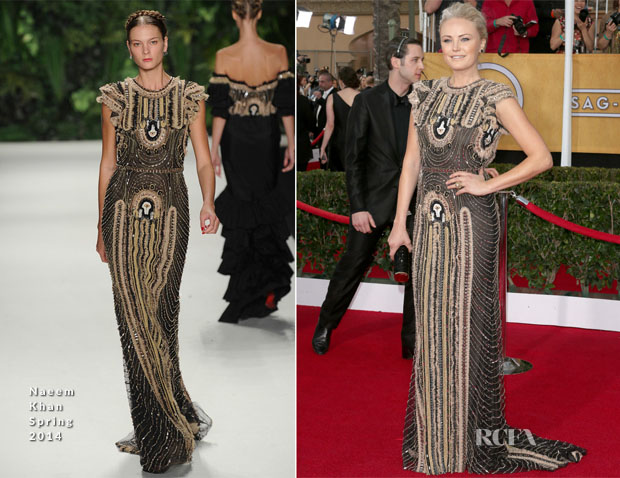 Malin Akerman In Naeem Khan - 2014 SAG Awards