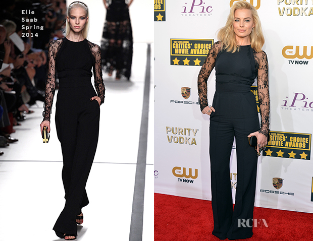Margot Robbie In Elie Saab - 2014 Critics' Choice Awards